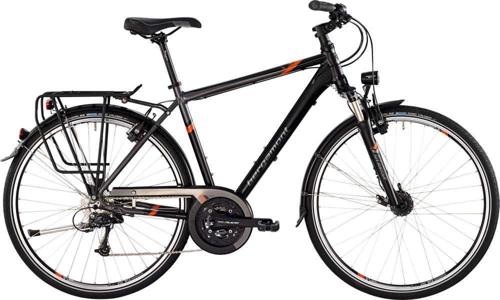 Bergamont Horizon 6.0 gent - Black / Grey / Orange (Matt) - 52cm - HiroBike Onlineshop