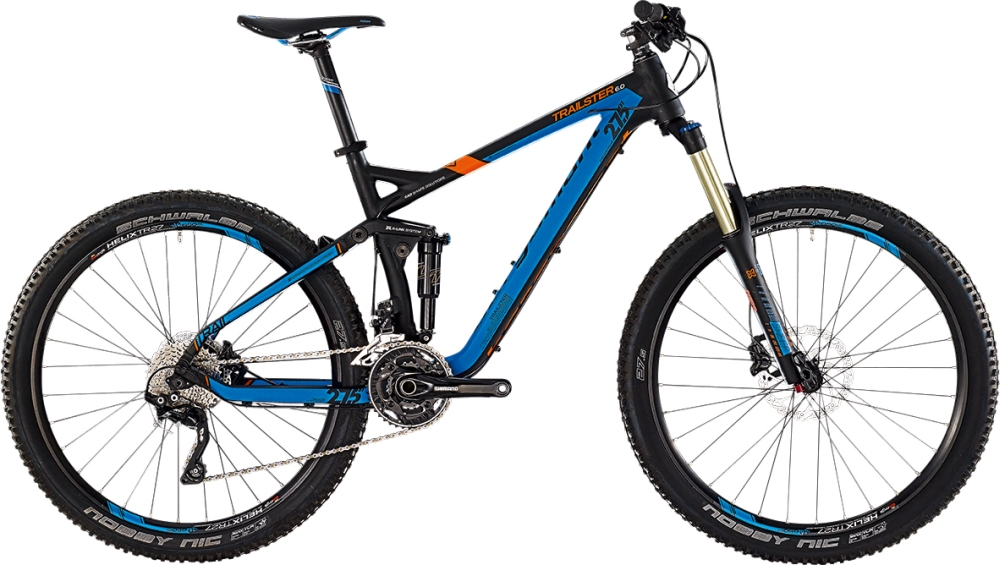 Bergamont Trailster 6.0 - Black / Blue / Orange (Matt)  - M - HiroBike Onlineshop