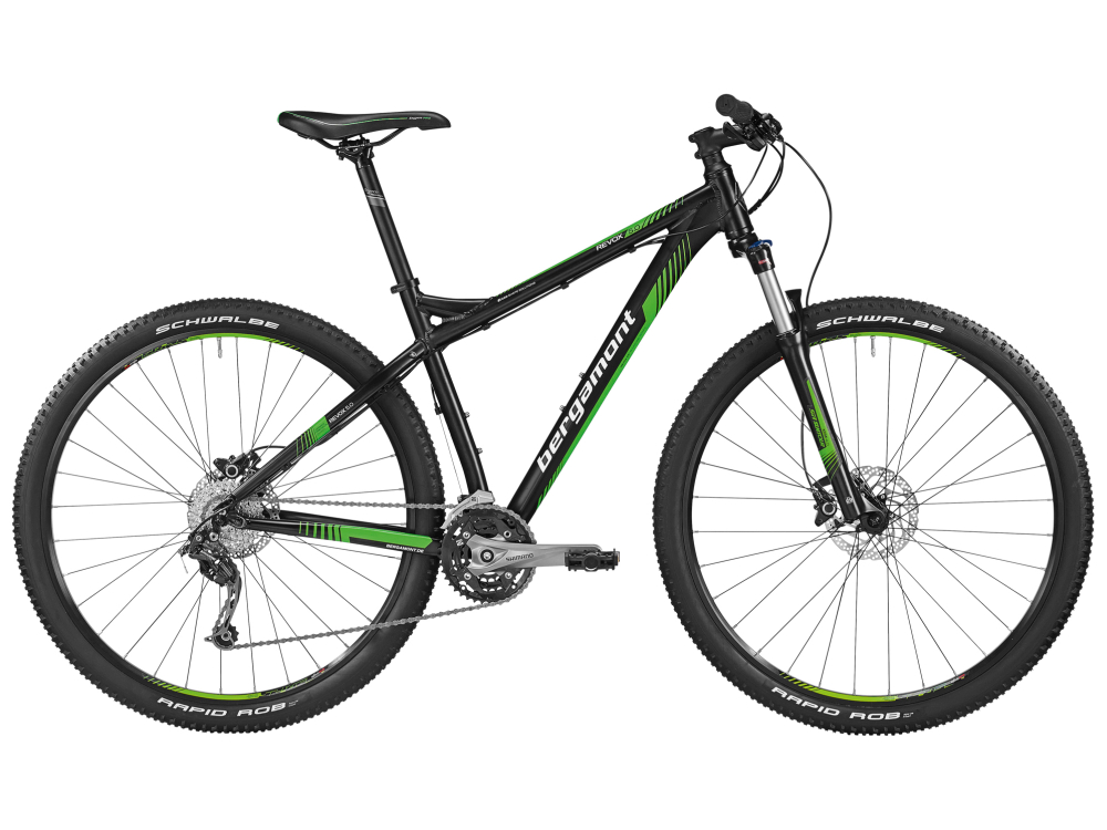 Bergamont Revox 5.0 - black - black / neon green / white (matt) - L - Bergamont Revox 5.0 - black - black / neon green / whit