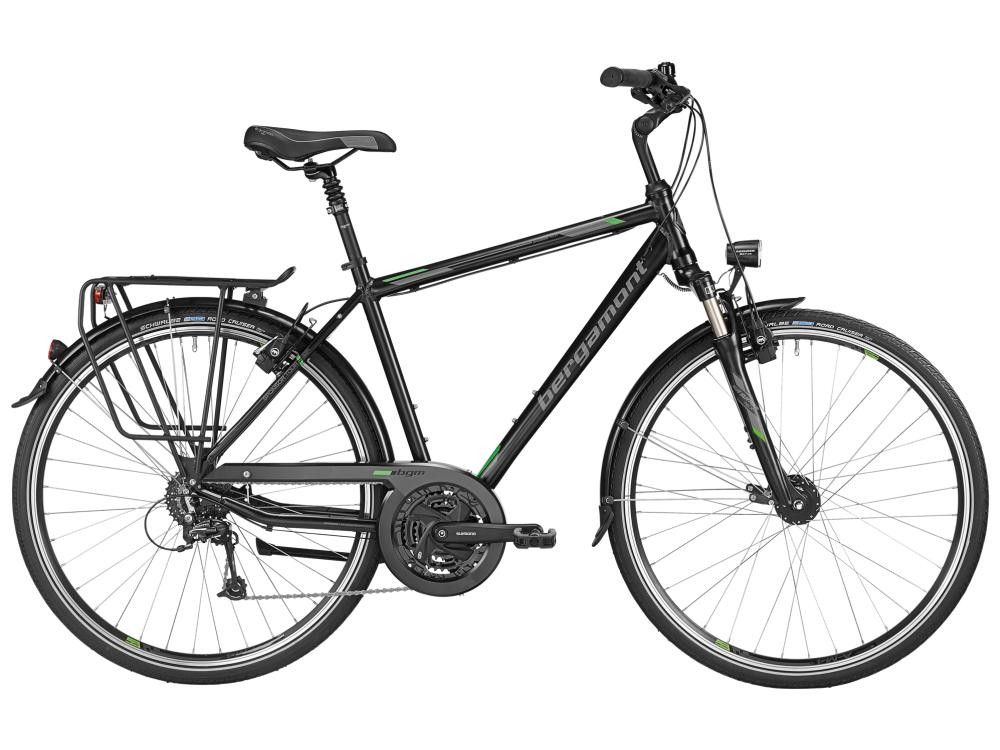 Bergamont Sponsor Tour Gent - black / grey / green (matt) - 52cm - Bergamont Sponsor Tour Gent - black / grey / green (mat