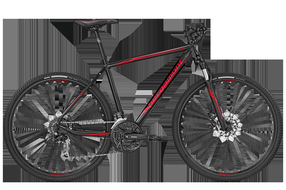 Bergamont BGM Bike Helix 5.0 Gent - black/red (matt) - 52 cm - Bergamont BGM Bike Helix 5.0 Gent - black/red (matt) -
