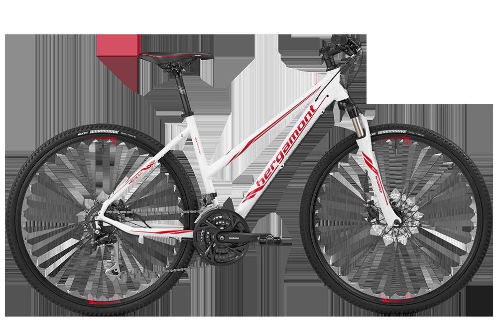 Bergamont BGM Bike Helix 5.0 Lady - white/red (matt) - 52 cm - Bergamont BGM Bike Helix 5.0 Lady - white/red (matt) -