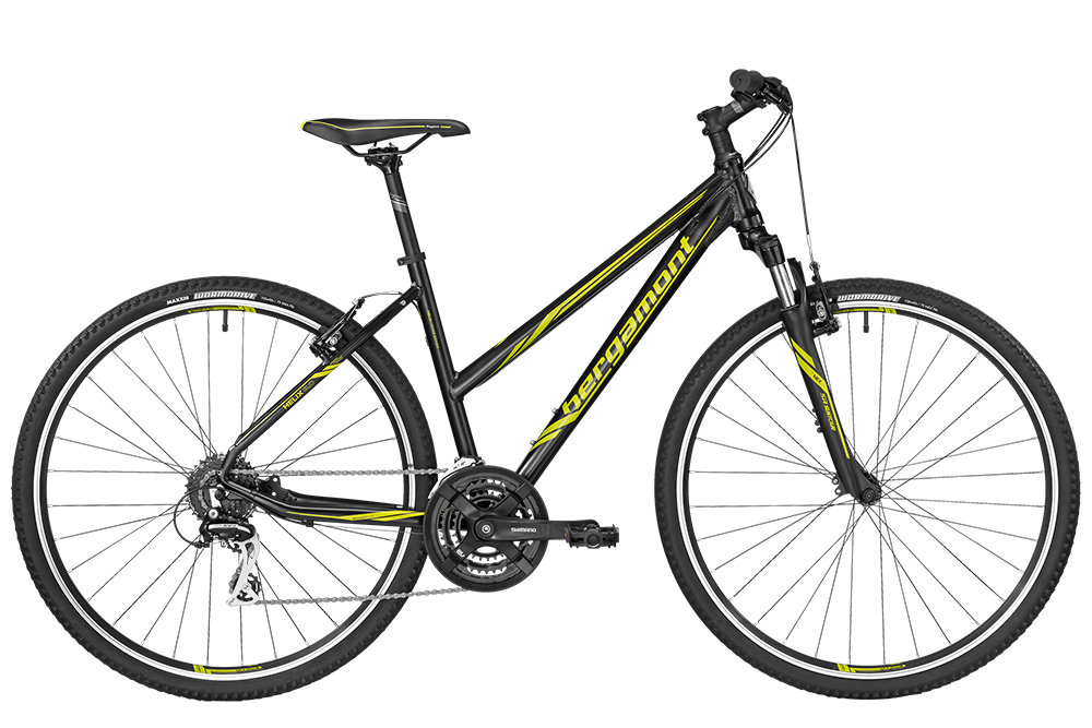 Bergamont BGM Bike Helix 3.0 Lady - black/lime (matt) - 52 cm - Bergamont BGM Bike Helix 3.0 Lady - black/lime (matt) -