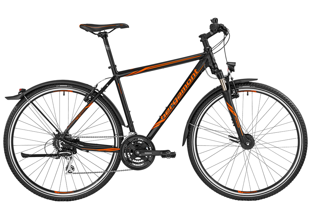 Bergamont BGM Bike Helix 4.0 EQ Gent - black/orange (matt) - 52 cm - Bergamont BGM Bike Helix 4.0 EQ Gent - black/orange (ma