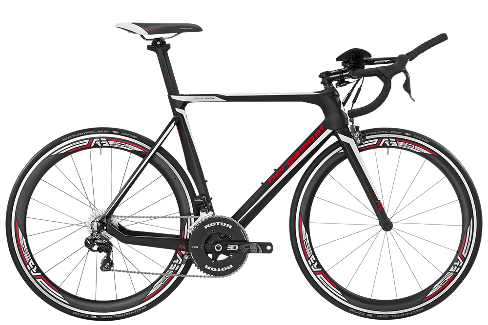 Bergamont BGM Bike Prime RS TRI - black/white/red (matt/shiny) - 55 cm - Bergamont BGM Bike Prime RS TRI - black/white/red (matt