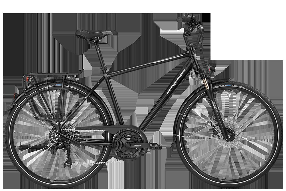 Bergamont BGM Bike Sponsor Disc Gent - black/silver (matt) - 56 cm - Bergamont BGM Bike Sponsor Disc Gent - black/silver (ma