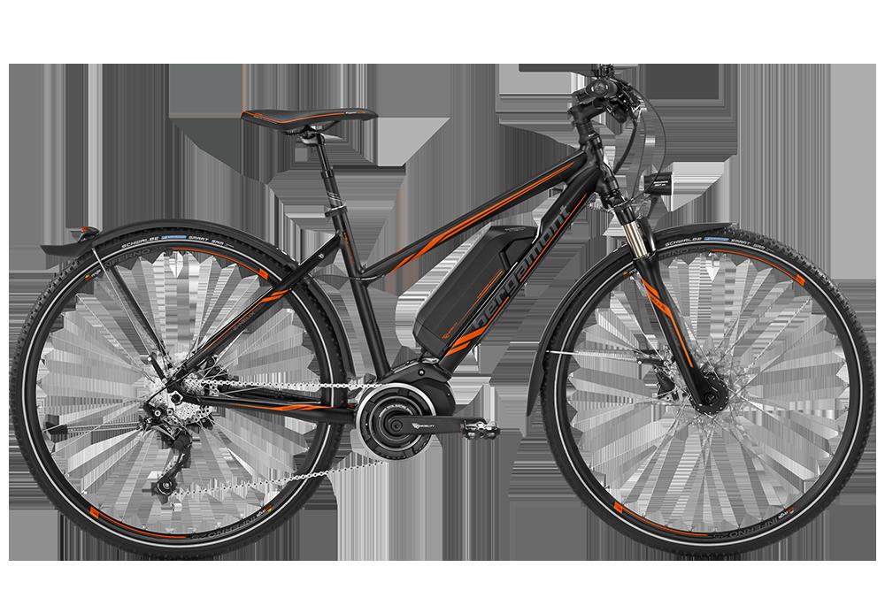 Bergamont BGM Bike E-Helix 7.0 Lady - black/orange (matt) - 46 cm - HiroBike Onlineshop